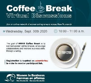 "Women in Business NB monthly ""Coffee Break – Virtual Discussion"""