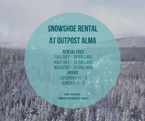 Snowshoe rentals at Outpost Alma