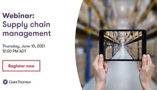 Supply Chain management webinar