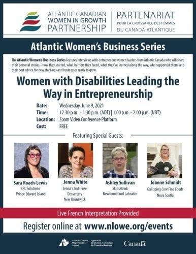 Online panel on women with disabilities in entrepreneurship